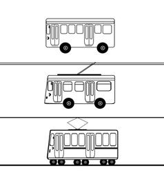 Public transport bus trolleybus tram vector