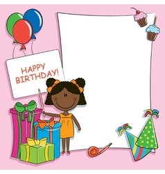 Happy birthday greeting card vector