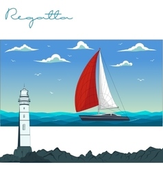 Yacht regatta vector
