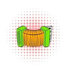 Accordion icon in comics style vector image