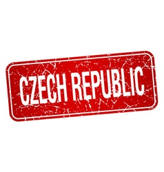 Czech republic red stamp isolated on white vector