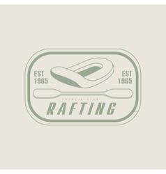 Rafting Emblem Design vector image