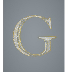 Abstract golden letter G vector image