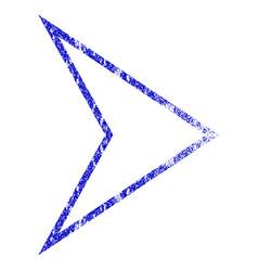 Arrowhead right grunge textured icon vector