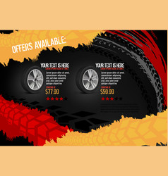 automotive tire poster vector image vector image