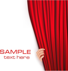 backgrounds with red velvet curtain vector image