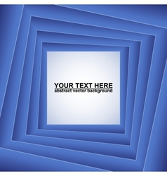 Blue squares abstract background vector image