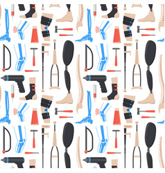 Cartoon orthopedic elements background pattern vector