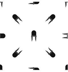 chair pattern seamless black vector image