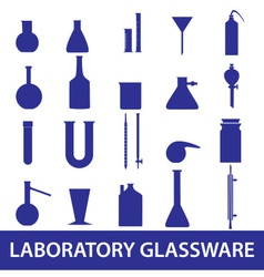 Chemistry laboratory glassware set eps10 vector