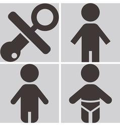 Children icons set vector