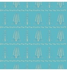 Christmas trees vintage seamless pattern vector