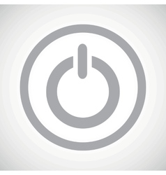 Grey power sign icon vector