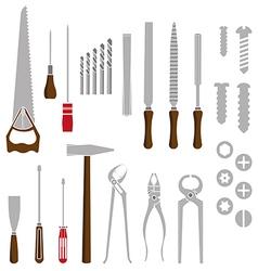 Hand work tools set vector image