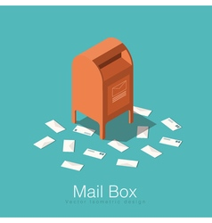 Isometric mail box vector