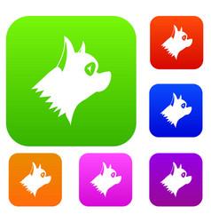Pinscher dog set collection vector