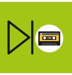 Play music cassette tape vector