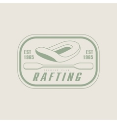 Rafting emblem design vector