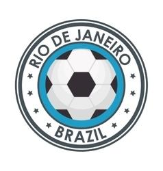 Rio de janeiro brazil football emblem vector