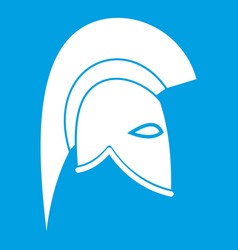 Roman helmet icon white vector