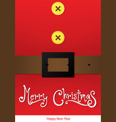 Santa christmas card vector