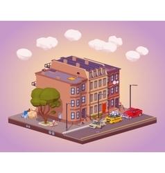 Scene of the urban street life vector image