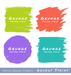 Set of Hand Drawn Flat Grunge Stains vector image vector image