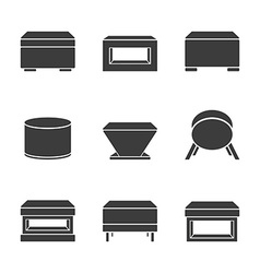 Set of pouf vector image vector image