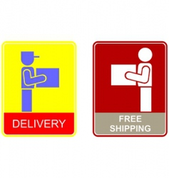 shipping vector image vector image