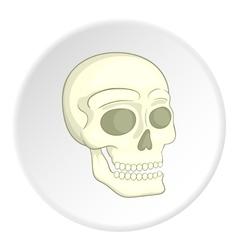 Skull icon isometric style vector