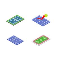 sport arena icon set isometric style vector image