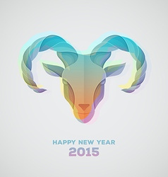 The goat is a symbol of 2015 vector image vector image