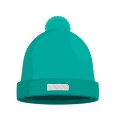 winter hat isolated flat vector image vector image