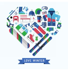 Winter Lifestyle Background vector image vector image