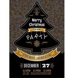 Christmas party poster abstract gold and vector