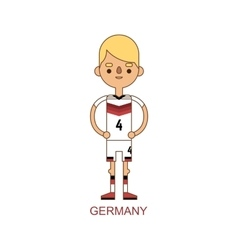 Germany national soccer football player vector