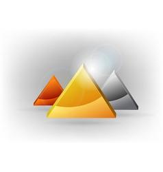 three triangles vector image