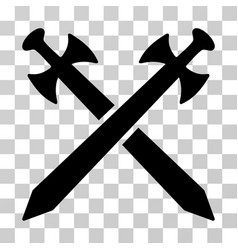 medieval swords icon vector image