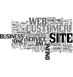 Is your on line business customer friendly text vector