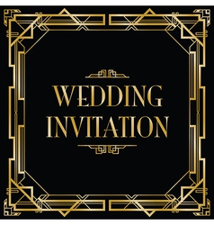 Art deco gatsby wedding vector