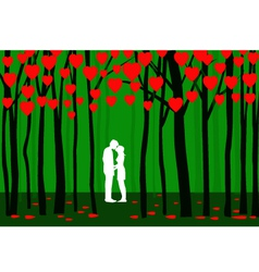 Valentine forest vector