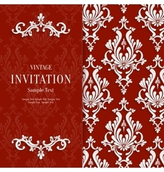 Red floral 3d christmas and invitation vector