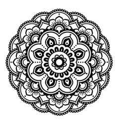 Indian henna tattoo pattern or background vector