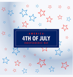 4th of july silver background vector image vector image