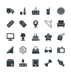 Shopping cool icons 3 vector