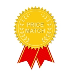 Gold label price match vector