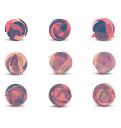 abstract geometric sphere set pink graphic vector image