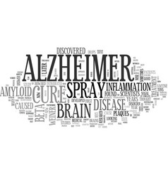 Alzheimer s prevent it now text word cloud concept vector