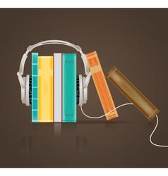 audio books vector image vector image