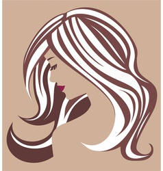 Beauty MakeUp icon in brown vector image